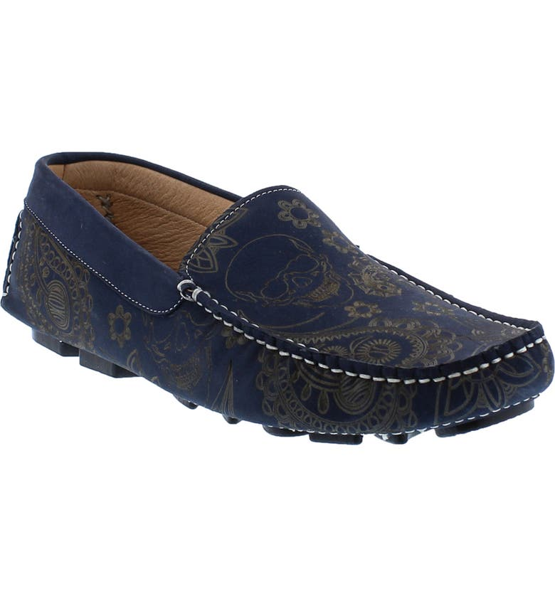 ROBERT GRAHAM Champion Driving Moccasin, Main, color, NAVY