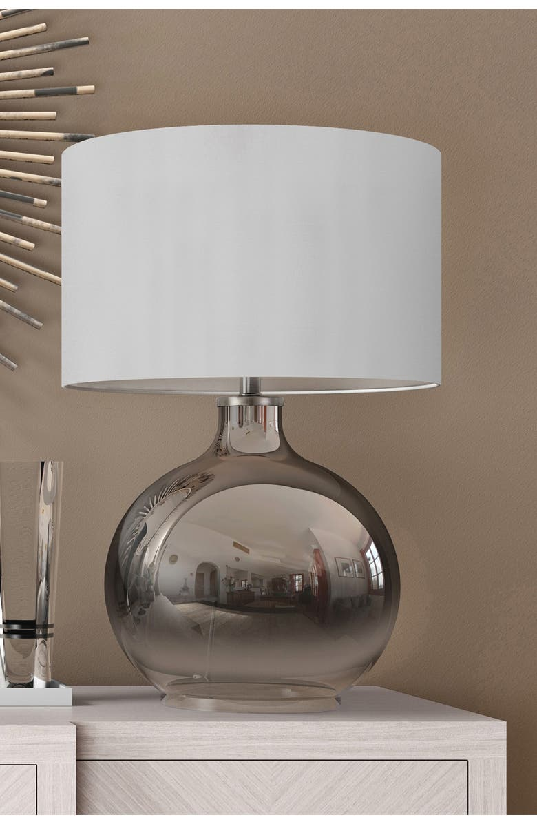 ADDISON AND LANE Laelia Table Lamp - Ombre Plated Glass, Main, color, SILVER