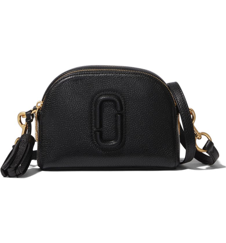 THE MARC JACOBS MARC JACOBS The Shutter Leather Crossbody Bag, Main, color, 001