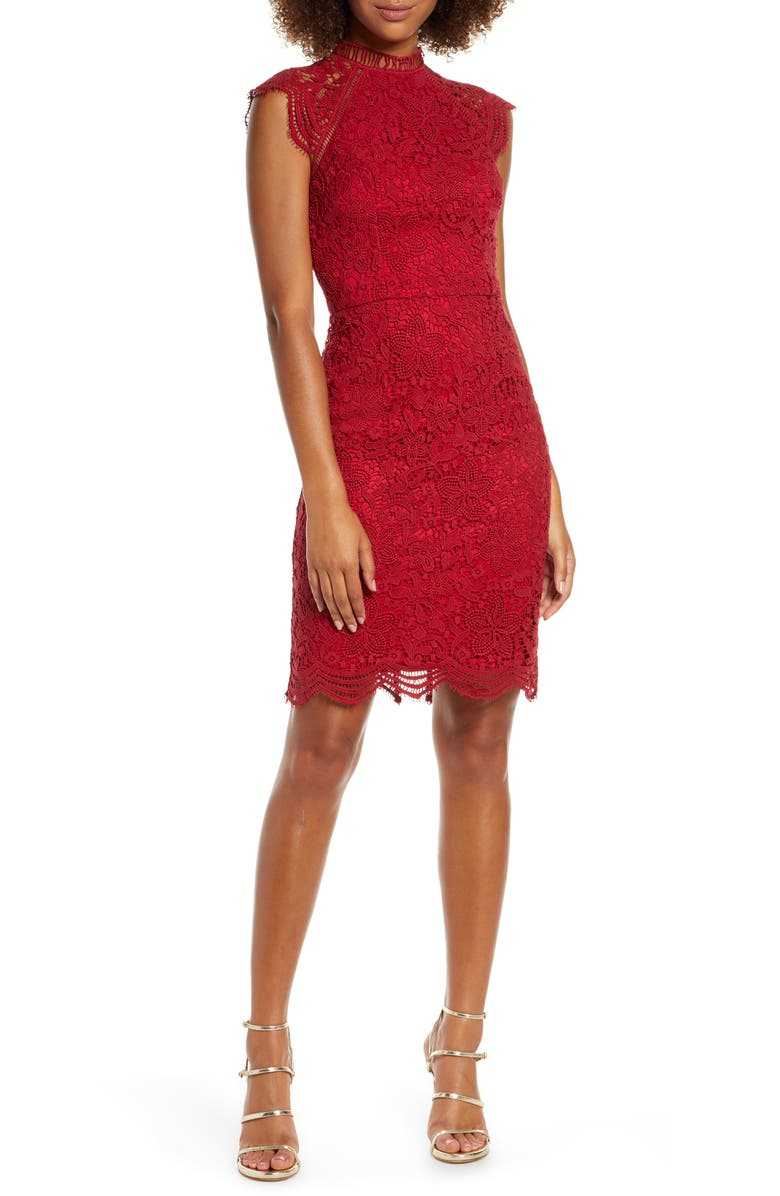 CHI CHI LONDON Paulina Lace Cocktail Dress, Main, color, 618