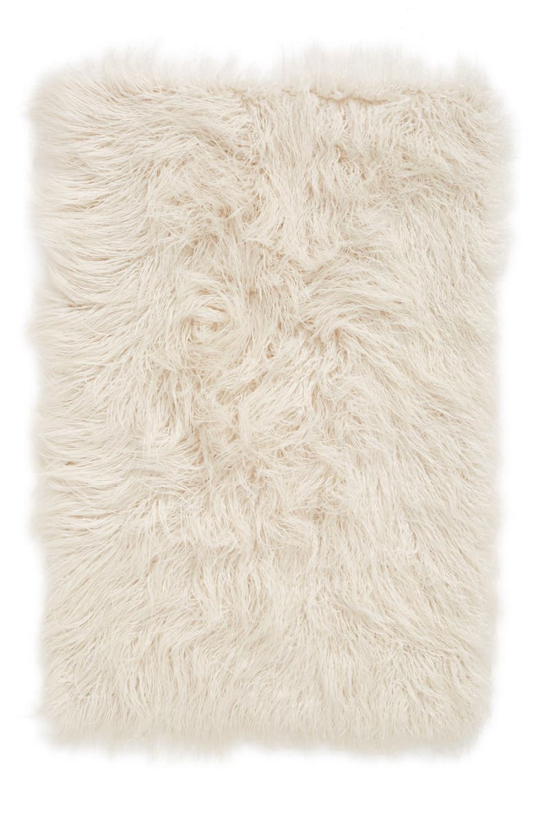 NORDSTROM at Home 'Mongolian' Faux Fur Area Rug, Main, color, 900