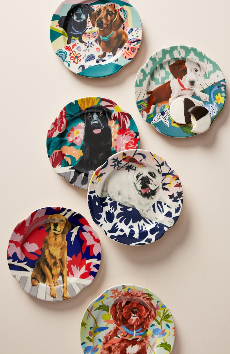 ANTHROPOLOGIE HOME Anthropologie Jay McClellan Side Plate, Main, color, SAPPHIRE
