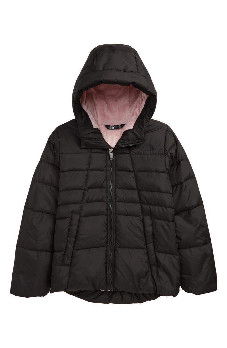 THE NORTH FACE Kids' Down Insulated Waterproof Hooded Coat, Main, color, TNF BLACK