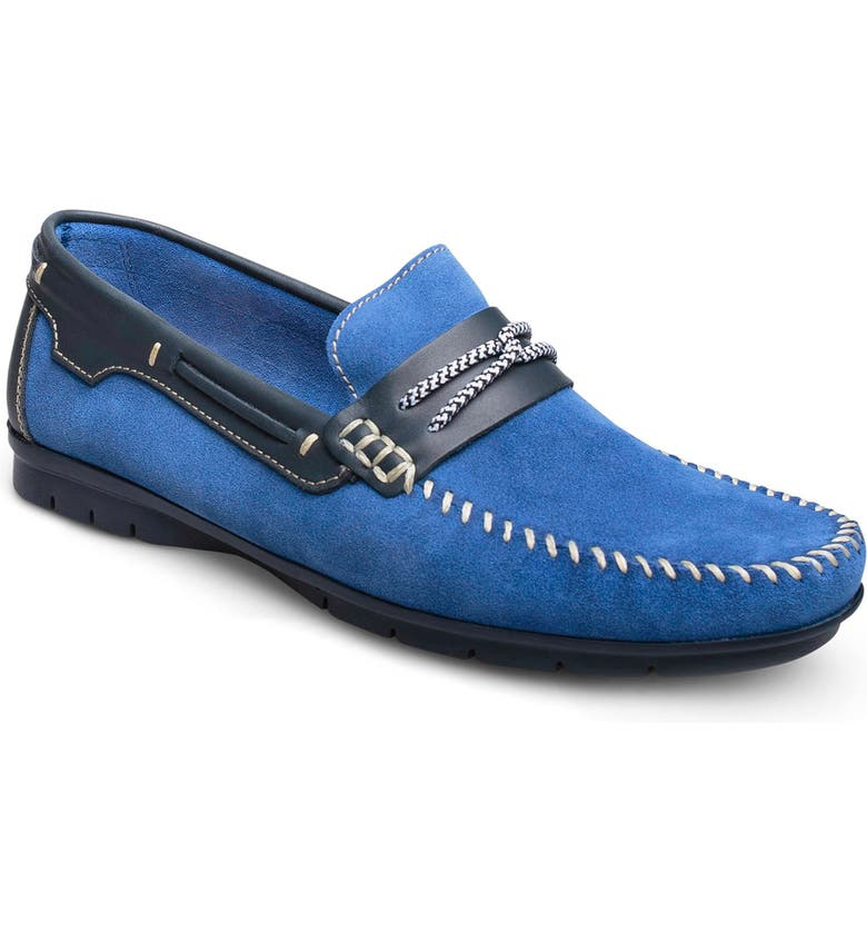 SANDRO MOSCOLONI Lucien Driving Shoe, Main, color, Blue