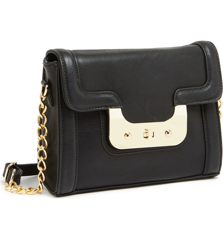 STREET LEVEL Faux Leather Crossbody, Main, color, 001
