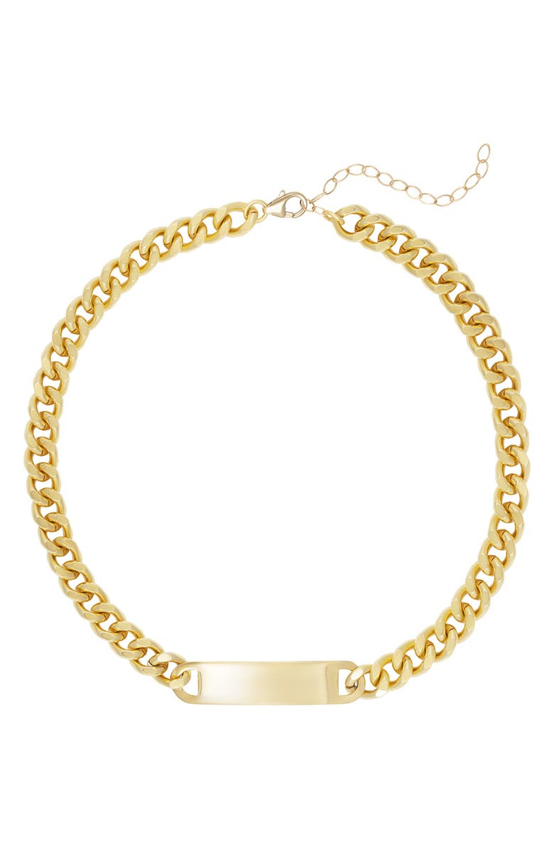ELECTRIC PICKS ID Tag Necklace, Main, color, GOLD