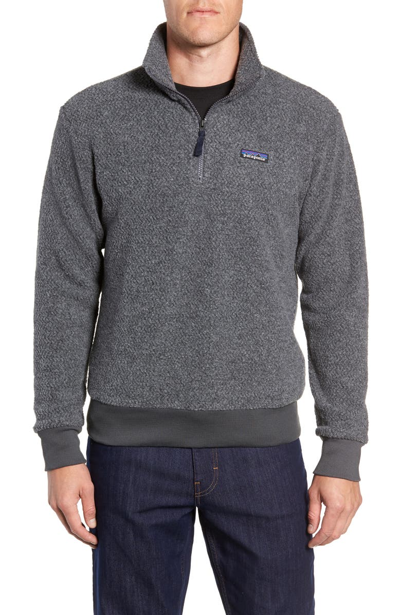 PATAGONIA Woolyester Fleece Quarter Zip Pullover, Main, color, FORGE GREY
