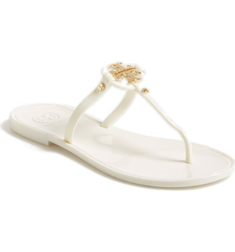 TORY BURCH Mini Miller Jelly Thong Sandal, Main, color, IVORY