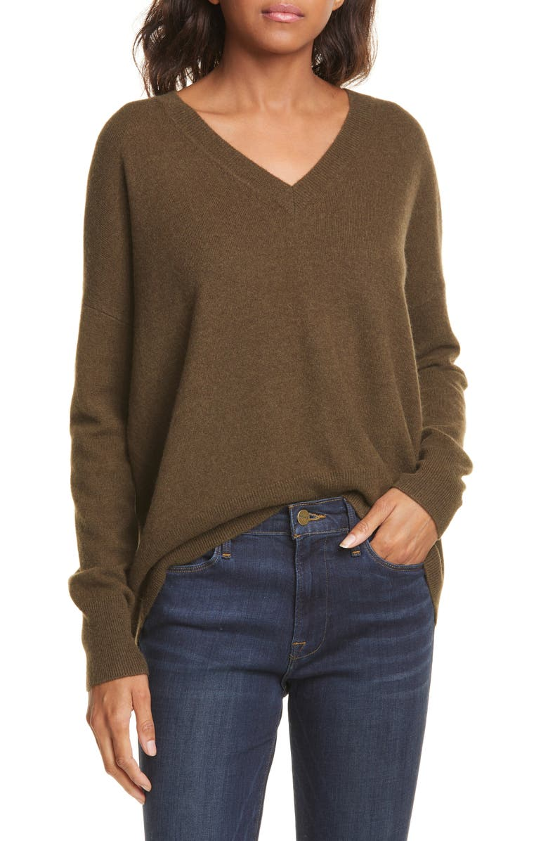 NORDSTROM SIGNATURE High/Low Cashmere Sweater, Main, color, 311