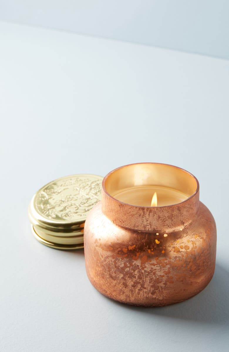ANTHROPOLOGIE HOME Capri Blue Pumpkin Scented Feathered Jar Candle, Main, color, 800