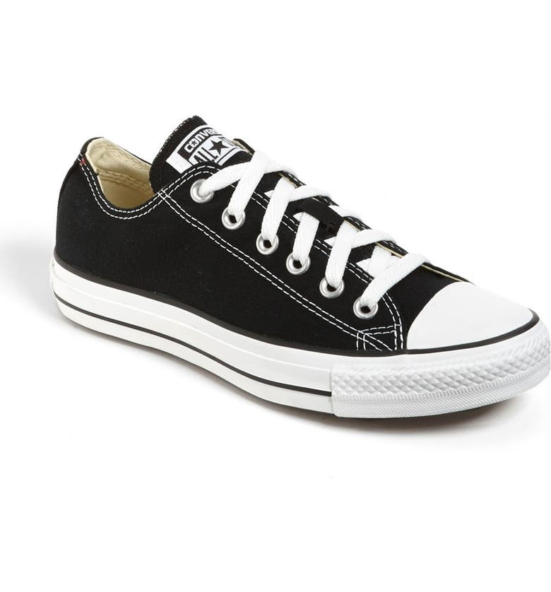 CONVERSE Chuck Taylor<sup>®</sup> All Star<sup>®</sup> Low Top Sneaker, Main, color, BLACK