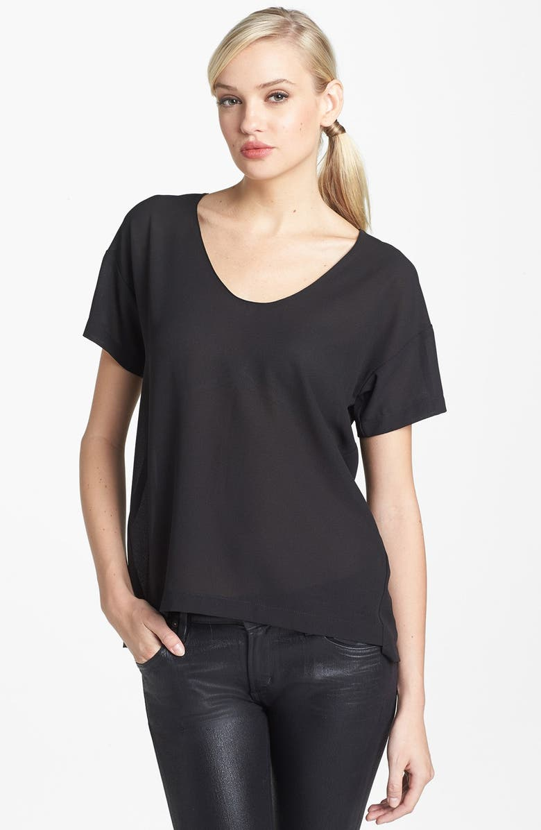 COLLECTIVE CONCEPTS Chiffon Tee, Main, color, 001