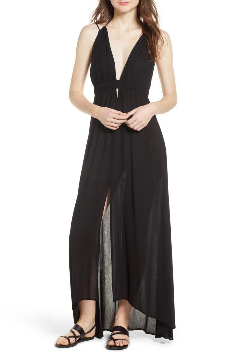 ASTR THE LABEL Gauze Crinkle Maxi Dress, Main, color, 003