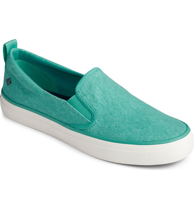 SPERRY Crest Twin Gore Slip-On Sneaker, Main, color, MINT WASHED TWILL FABRIC