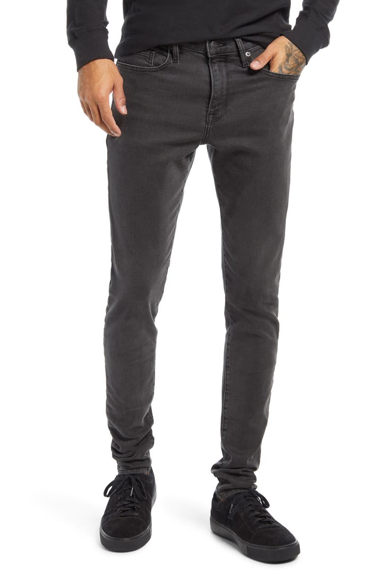 FRAME Jagger Skinny Fit Jeans, Main, color, FADE TO GREY
