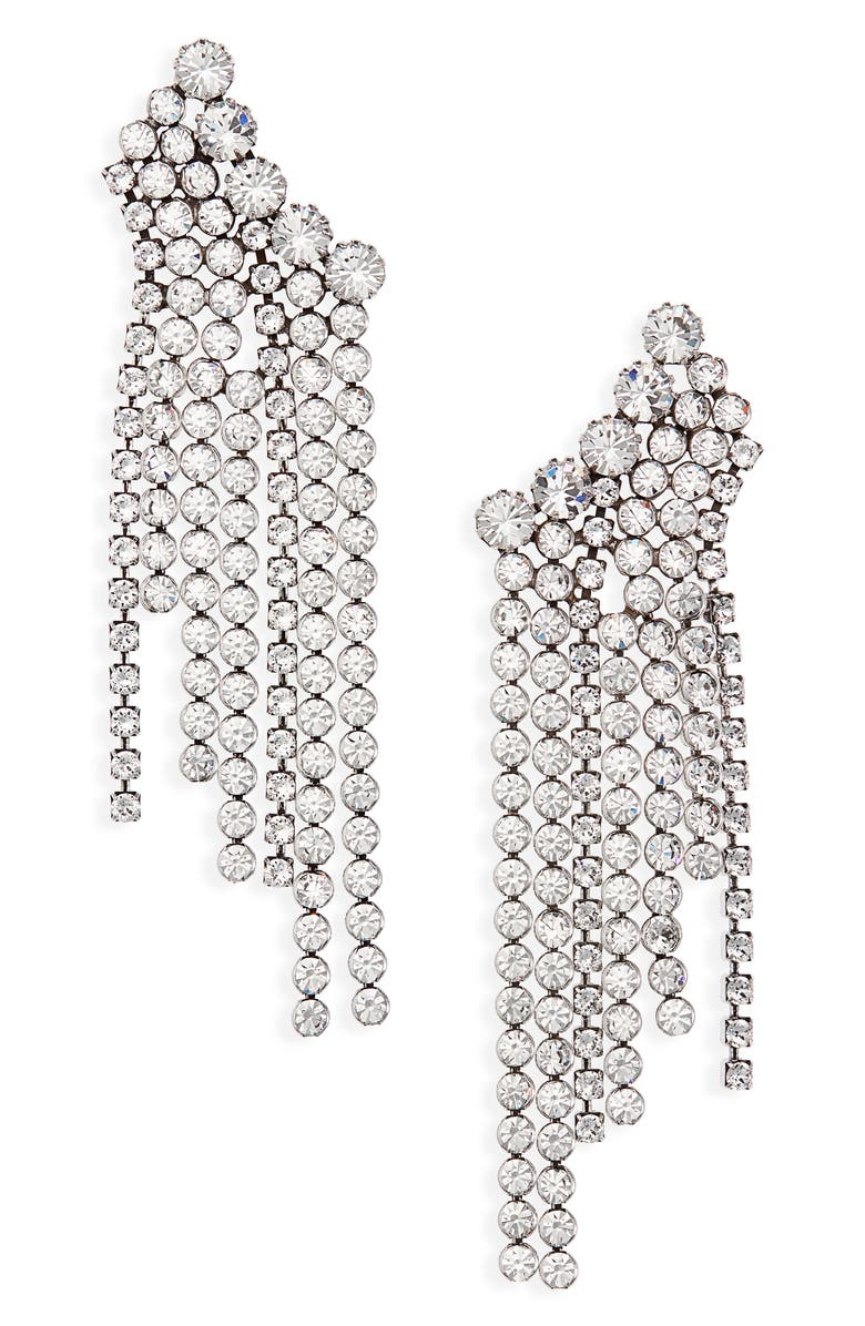 ISABEL MARANT A Wild Shore Crystal Chain Drop Earrings, Main, color, 040