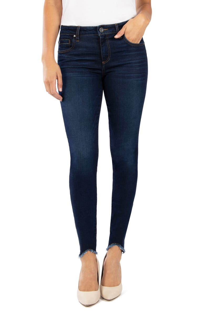 KUT FROM THE KLOTH Donna Curved Hem Ankle Skinny Jeans, Main, color, AMITY