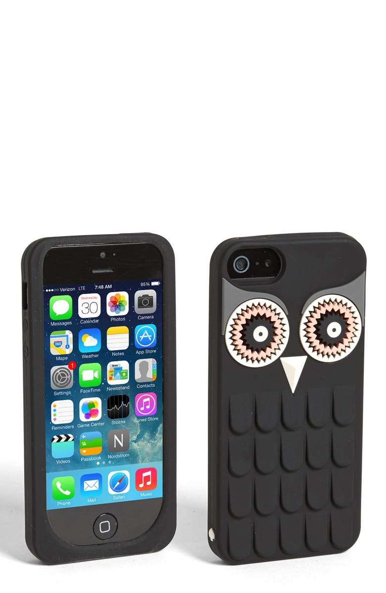 KATE SPADE NEW YORK 'owl' iPhone 5 & 5S case, Main, color, 001