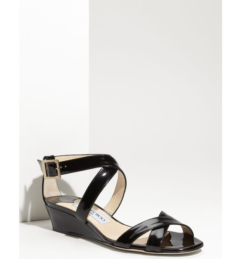 JIMMY CHOO 'Connor' Wedge Sandal, Main, color, 001