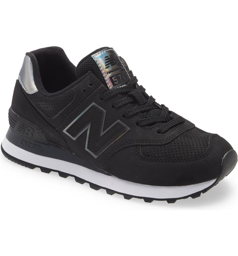 NEW BALANCE 574 Sneaker, Main, color, PITCH BLACK