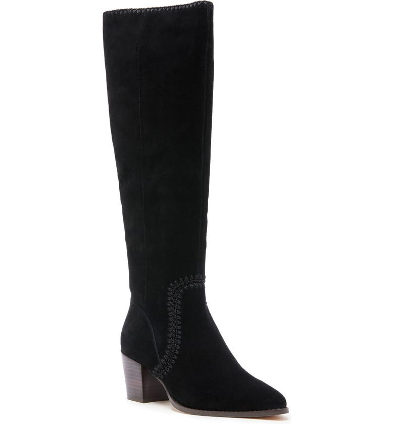 SOLE SOCIETY Alexie Knee High Boot, Main, color, 001