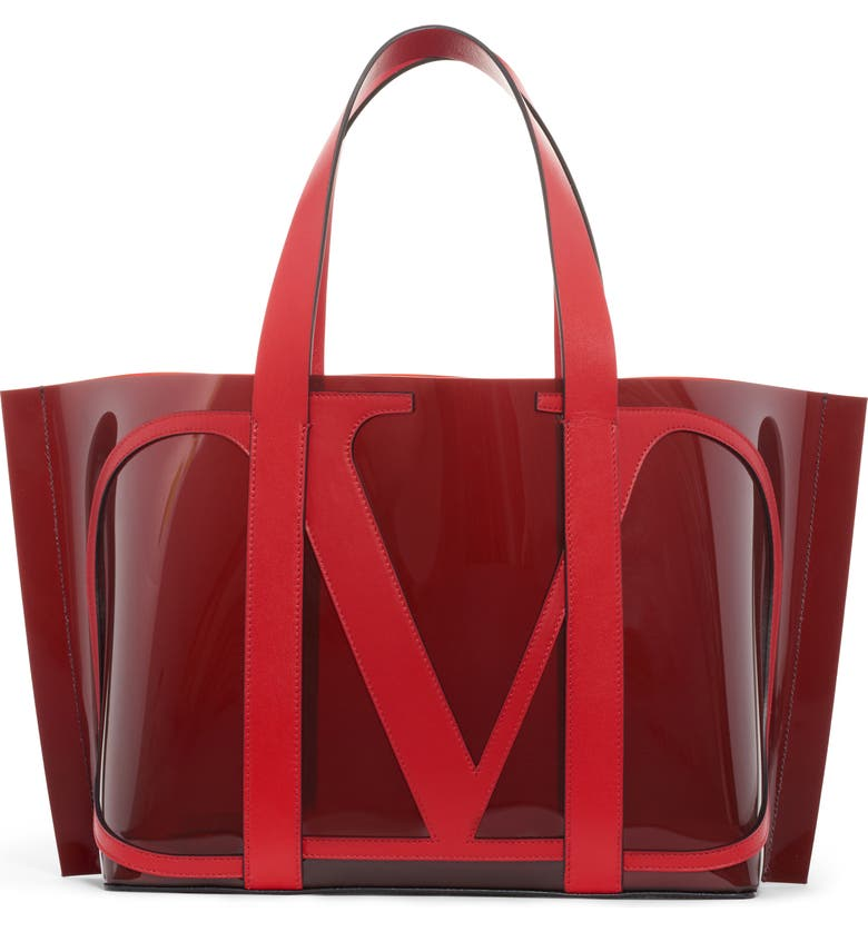 VALENTINO GARAVANI Small Escape V-Logo Tote, Main, color, 930