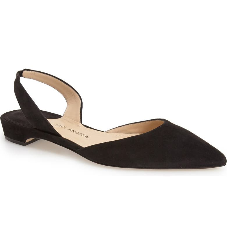 PAUL ANDREW 'Rhea' Slingback Flat, Main, color, 001