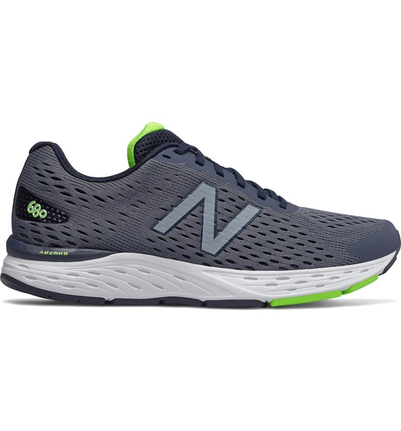 NEW BALANCE 680v6 Running Sneaker - Wide Width Available, Main, color, NAVY