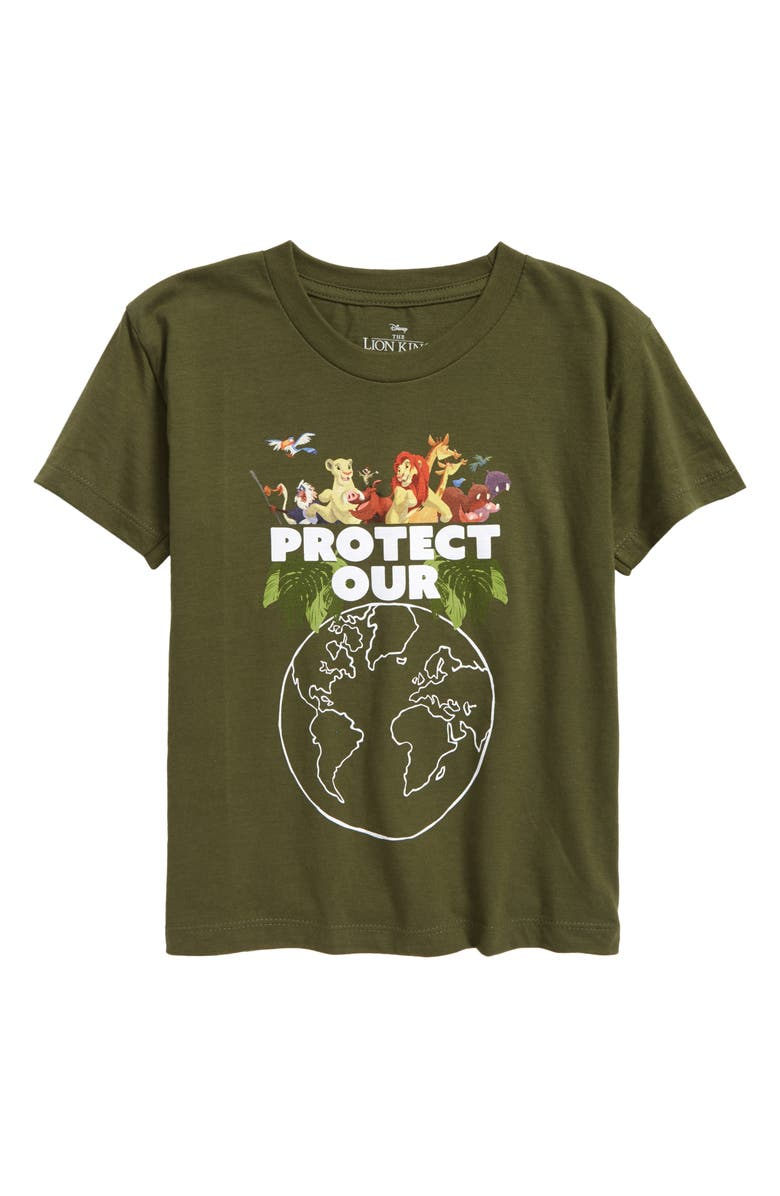 JEM Kids' Disney The Lion King<sup>®</sup> Protect Our Planet Graphic Tee, Main, color, DUSTY OLIVE