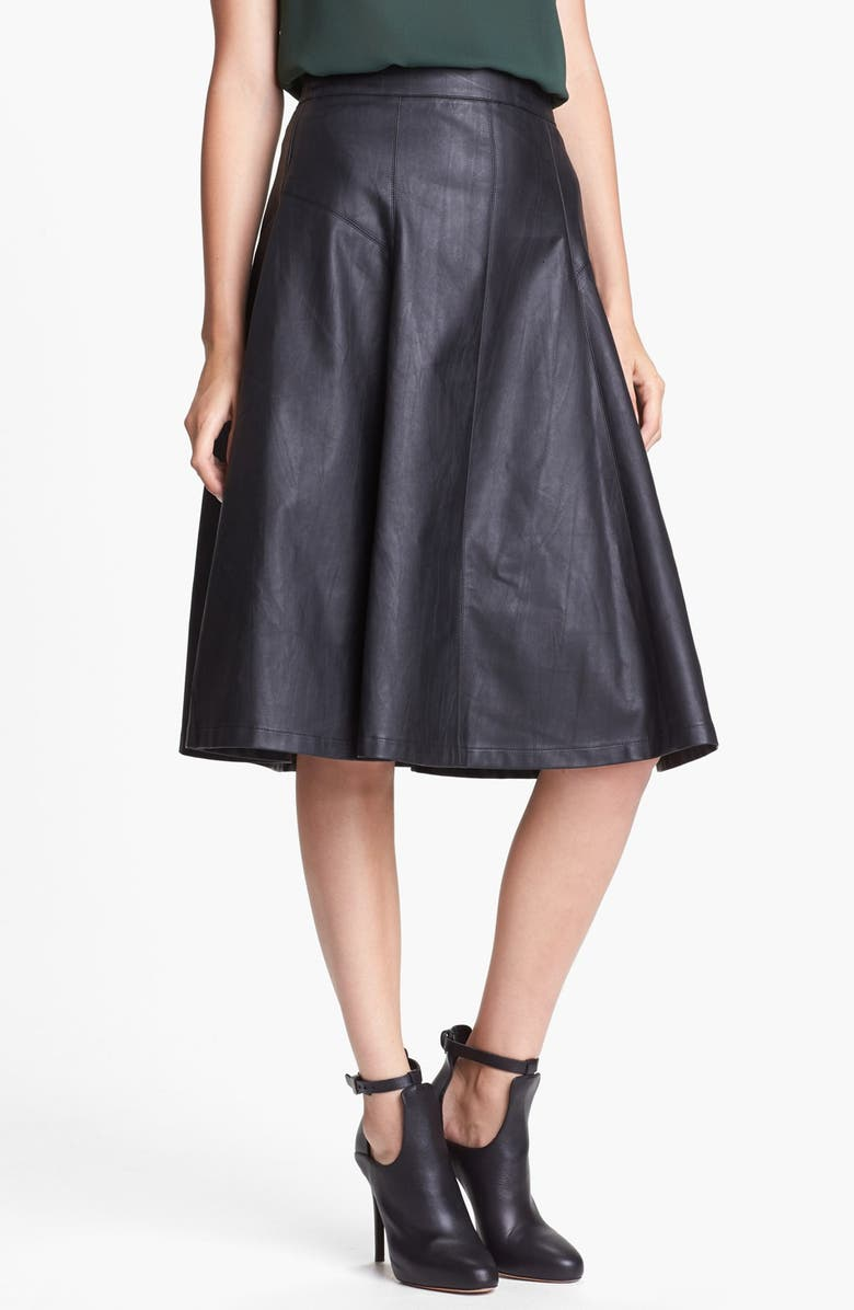 ASTR THE LABEL ASTR Faux Leather Midi Skirt, Main, color, 001