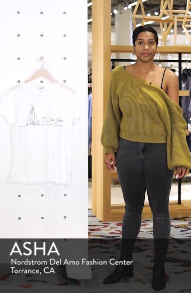 I Sea You Slouched Graphic Tee, sales video thumbnail