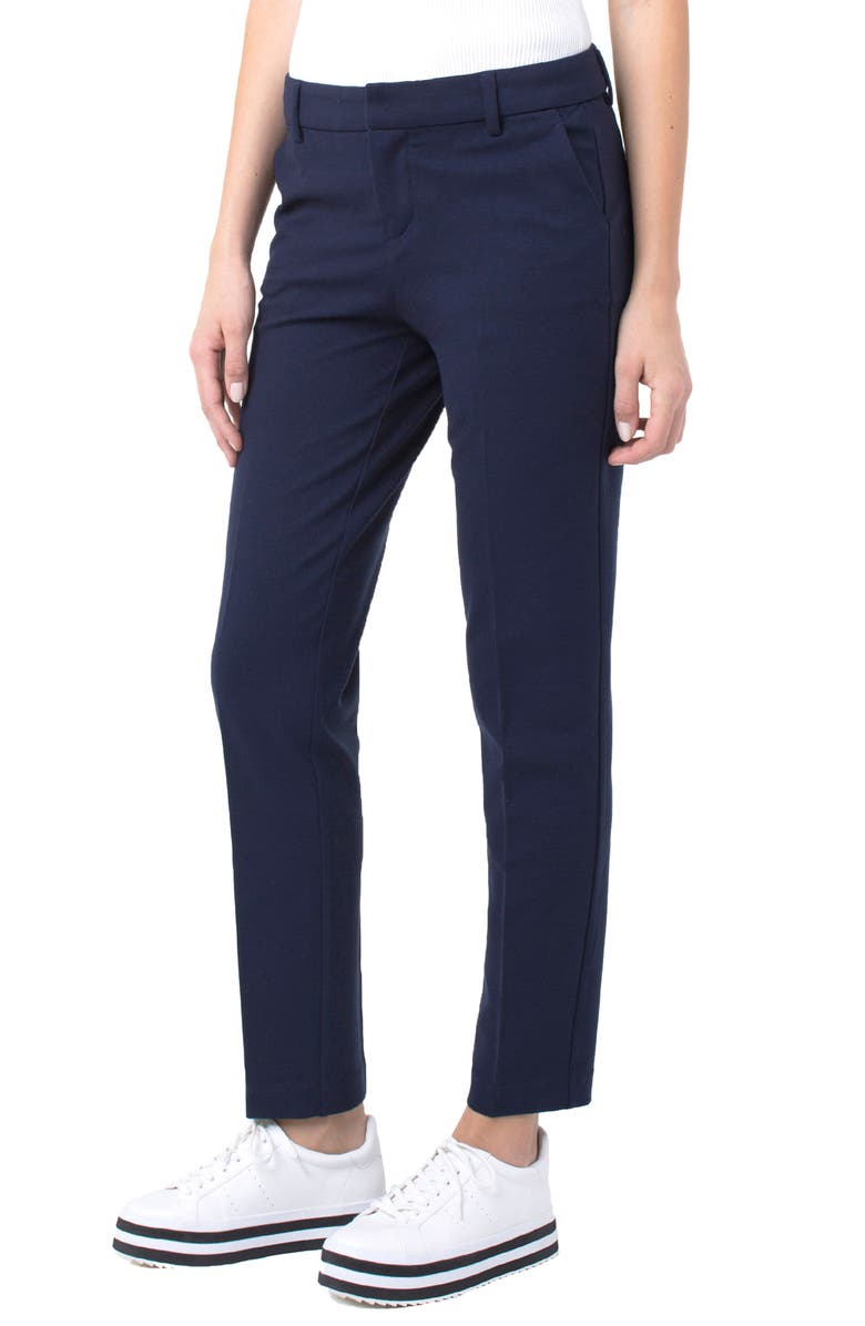 LIVERPOOL Kelsey Knit Trousers, Main, color, CADET BLUE