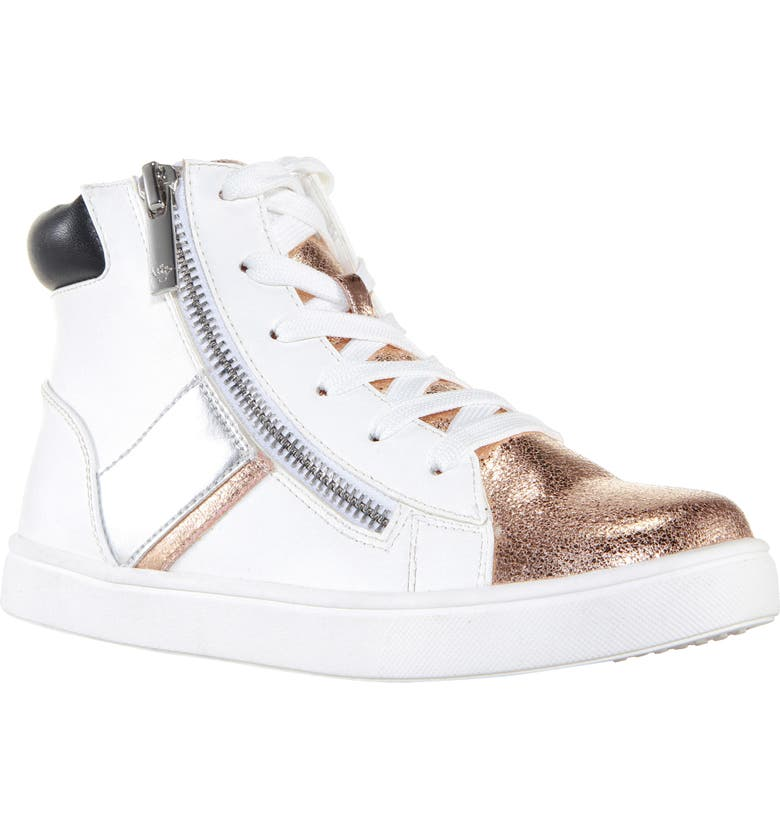 NINA Kids' Reda High Top Sneaker, Main, color, WHITE SMOOTH