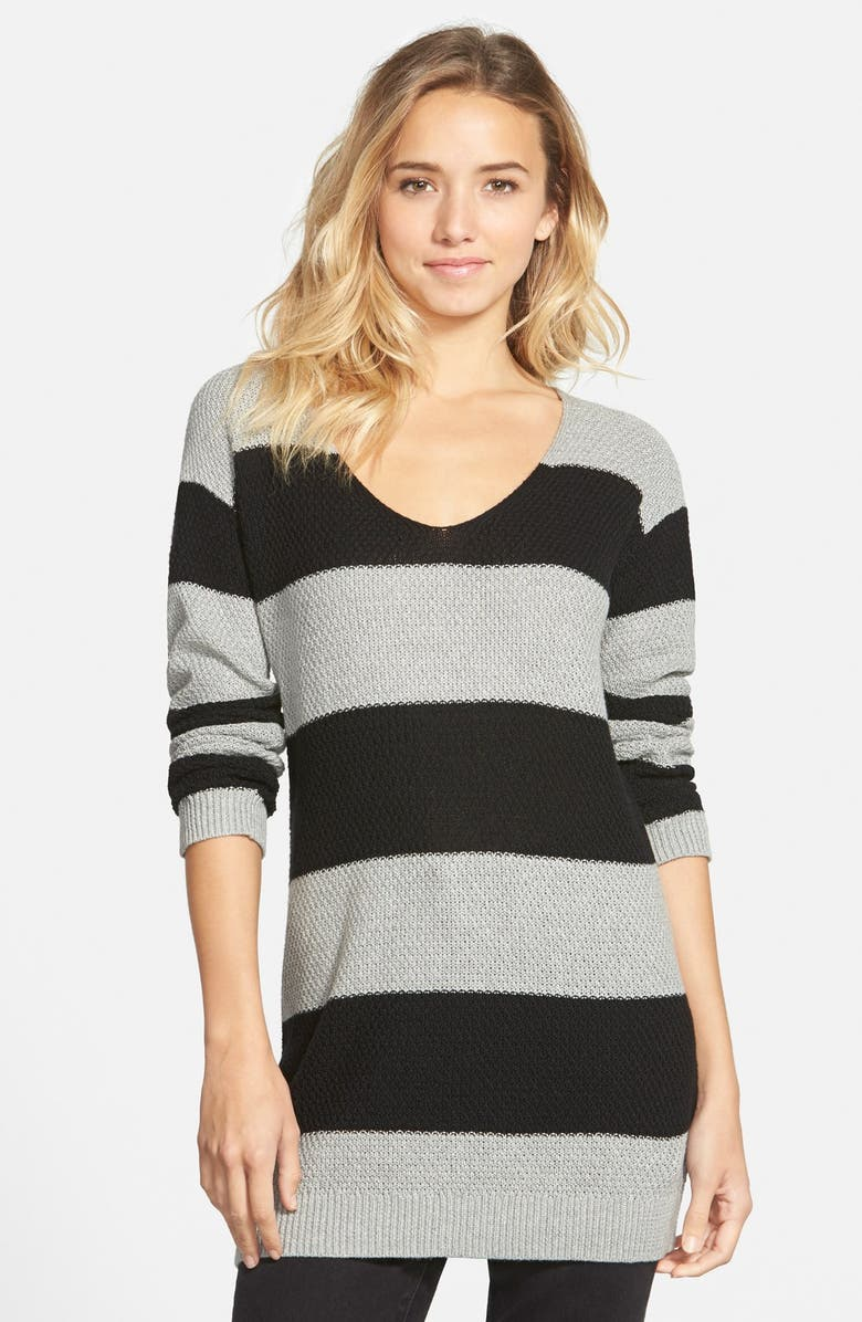 BP. Textured KnitStripe Tunic, Main, color, 030