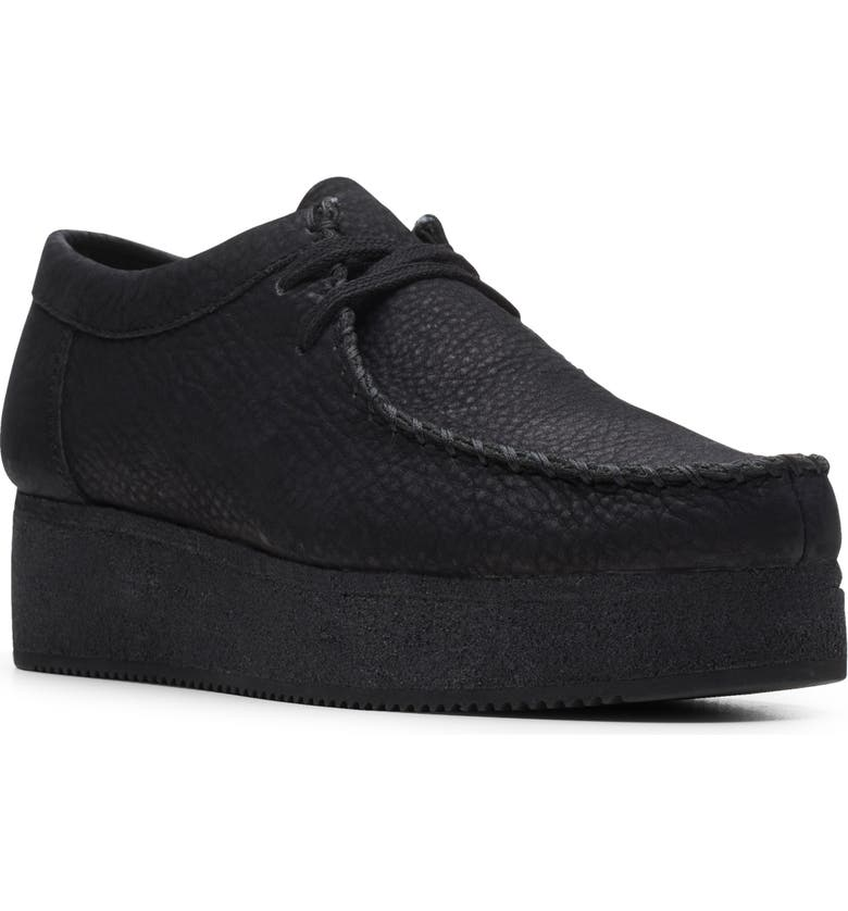 CLARKS<SUP>®</SUP> Wallacraft Lo Platform Moccasin, Main, color, BLACK NUBUCK