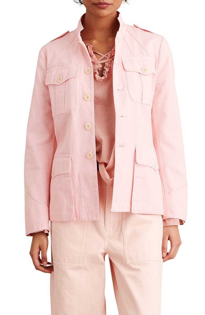 ALEX MILL Officer Cotton Jacket, Main, color, PINK