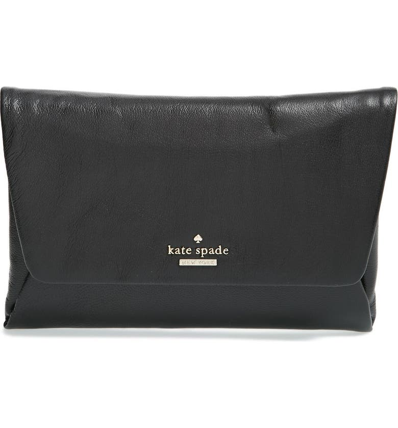KATE SPADE NEW YORK 'ivy place - alexis' clutch, Main, color, Black