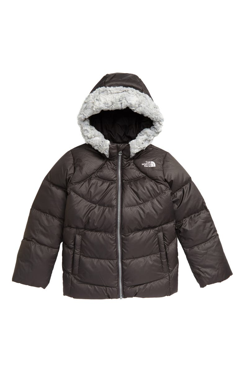 THE NORTH FACE Kids' Polar Water Repellent 550 Fill Power Down Parka, Main, color, NEW GRAPHITE GREY
