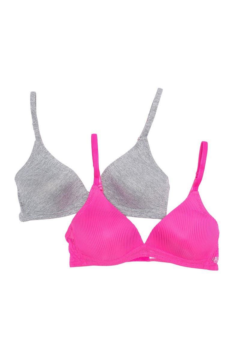 PARIS BLUES Wirefree Stripe Bra - Pack of 2, Main, color, 1/PINKP/HGRY