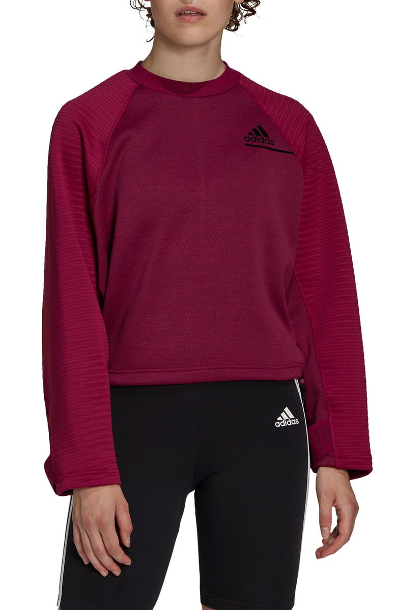 ADIDAS Cold.Rdy Sweatshirt, Main, color, POWER BERRY