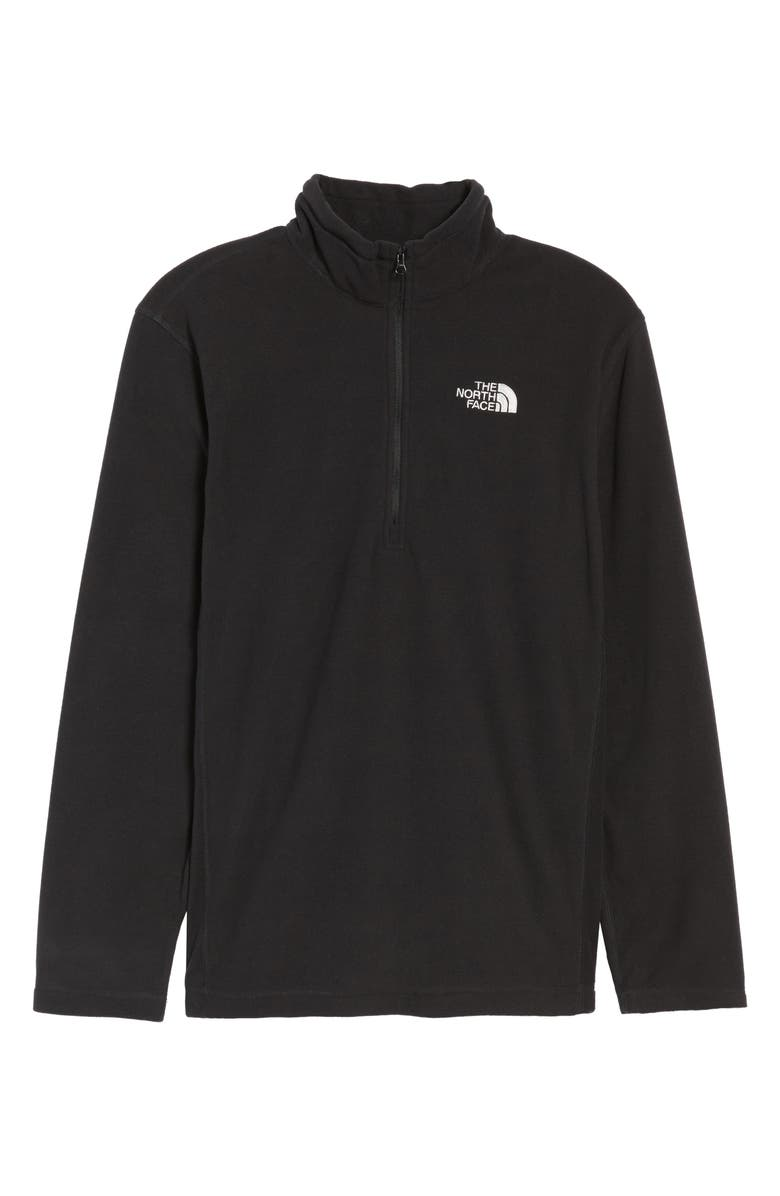 THE NORTH FACE TKA 100 Glacier Quarter Zip Fleece Pullover, Main, color, 001