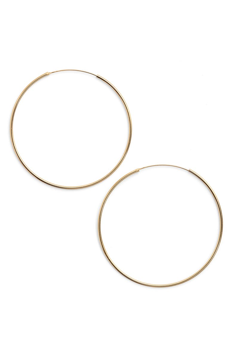 ARGENTO VIVO STERLING SILVER Argento Vivo Extra Large Endless Hoop Earrings, Main, color, GOLD