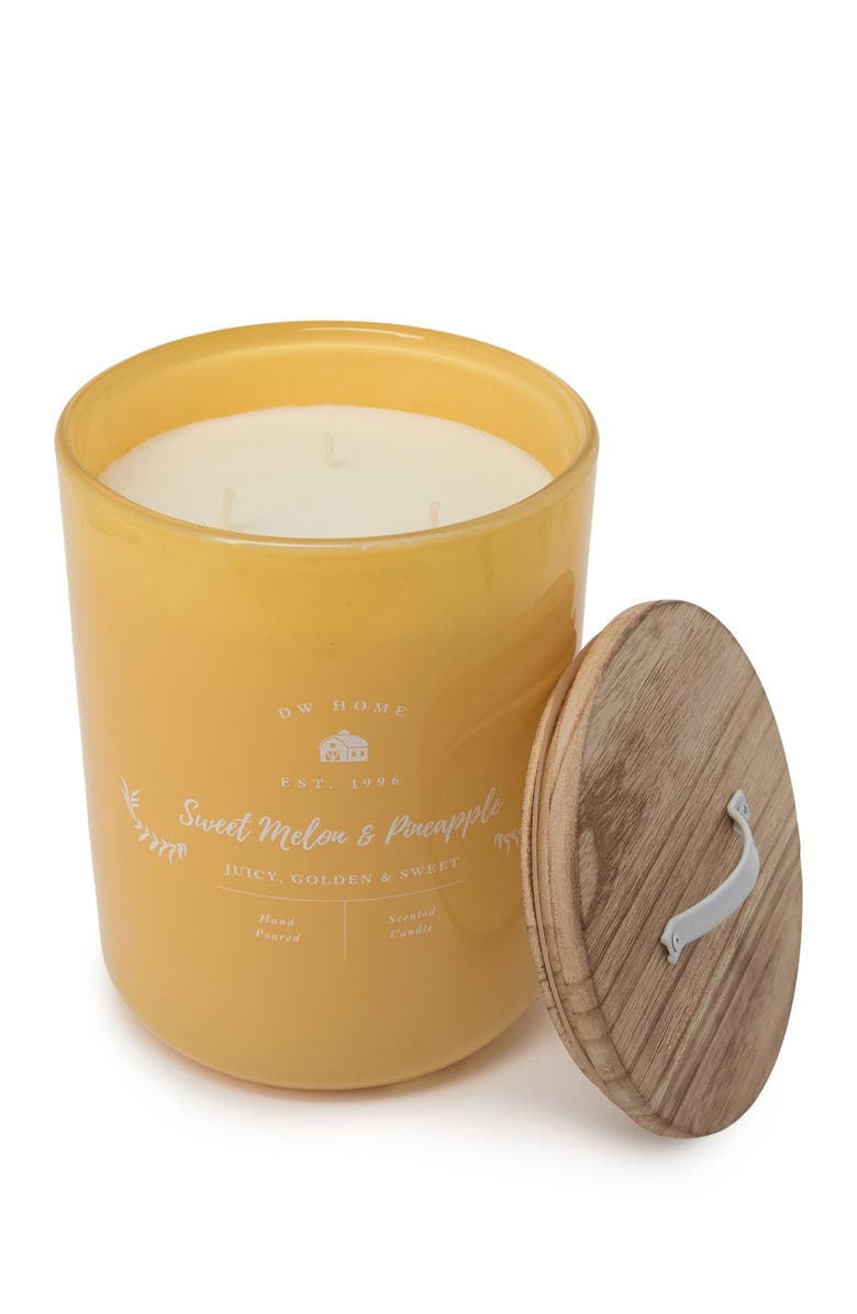 DW HOME Farmhouse Sweet Melon & Pineapple Candle - 47 oz., Main, color, YELLOW