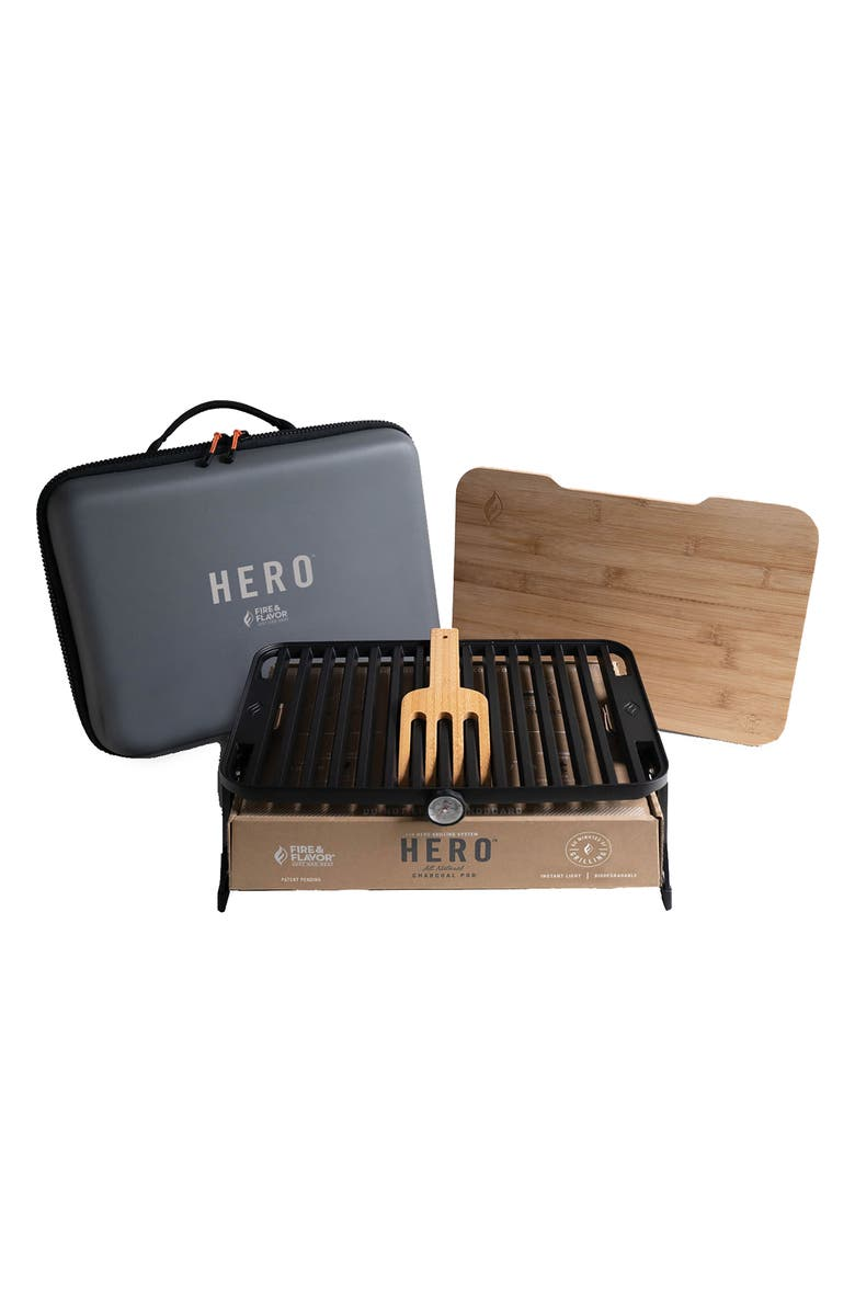 FIRE AND FLAVOR Hero<sup>™</sup> Portable Charcoal Grill System, Main, color, MULTI