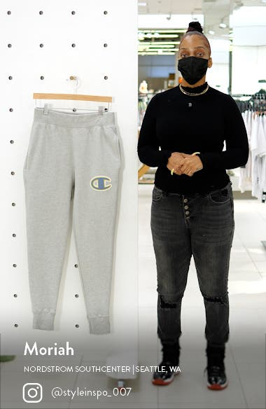 Reverse Weave<sup>®</sup> Embroidered Logo Sweatpants, sales video thumbnail