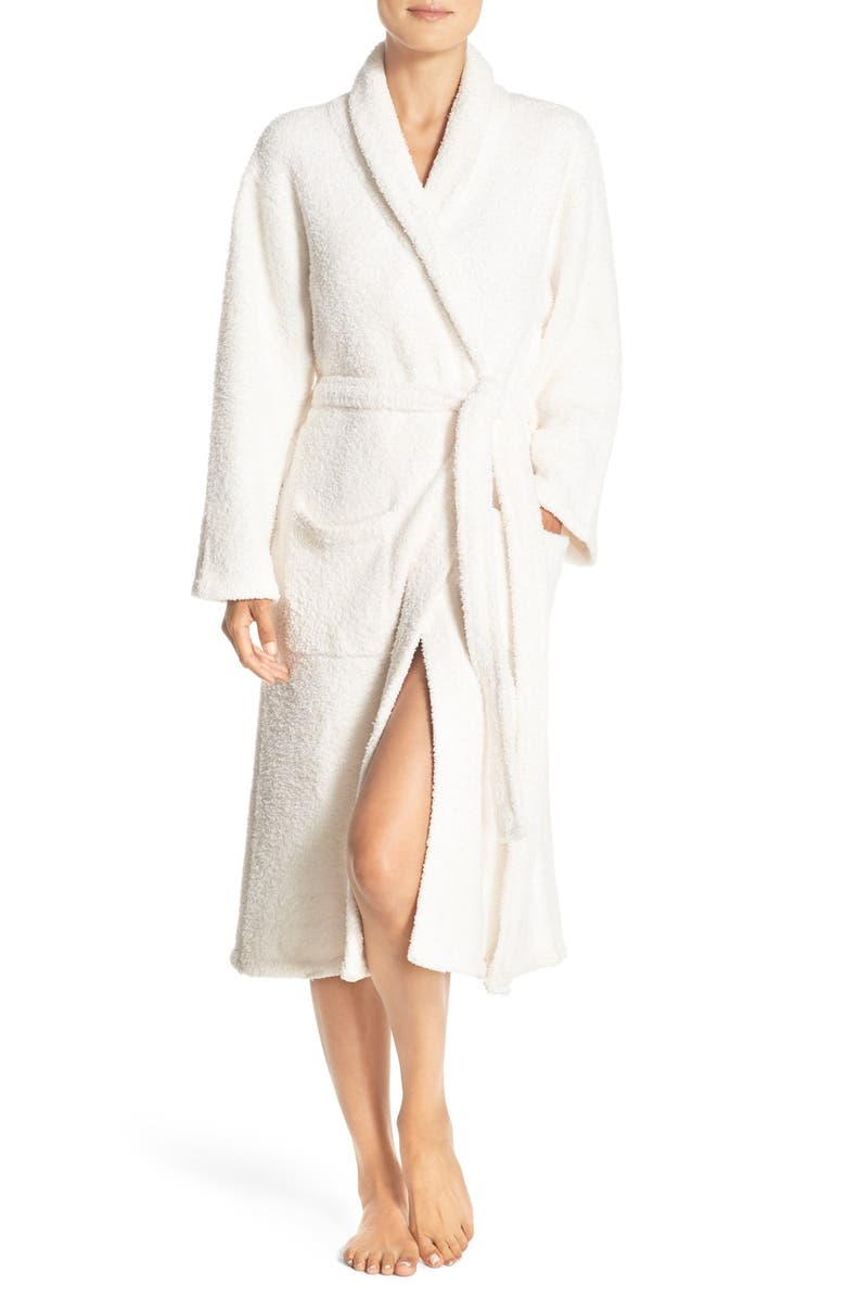 BAREFOOT DREAMS<SUP>®</SUP> CozyChic<sup>®</sup> Unisex Robe, Main, color, CREAM/ WHITE