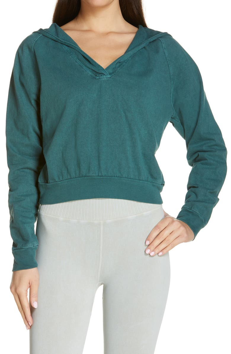 FREE PEOPLE FP MOVEMENT Après Ski Hoodie, Main, color, Dark Green