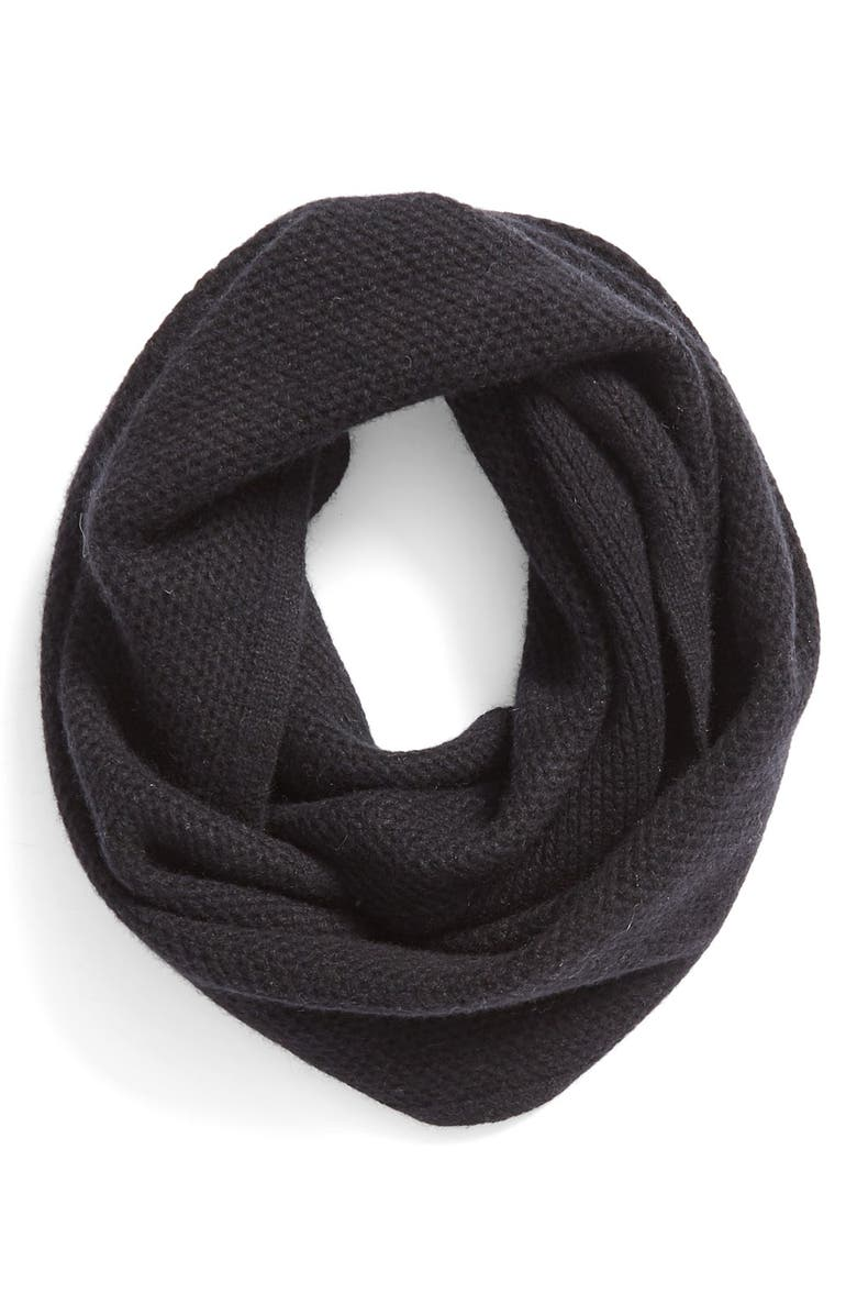 HALOGEN<SUP>®</SUP> Knit Cashmere Infinity Scarf, Main, color, 001