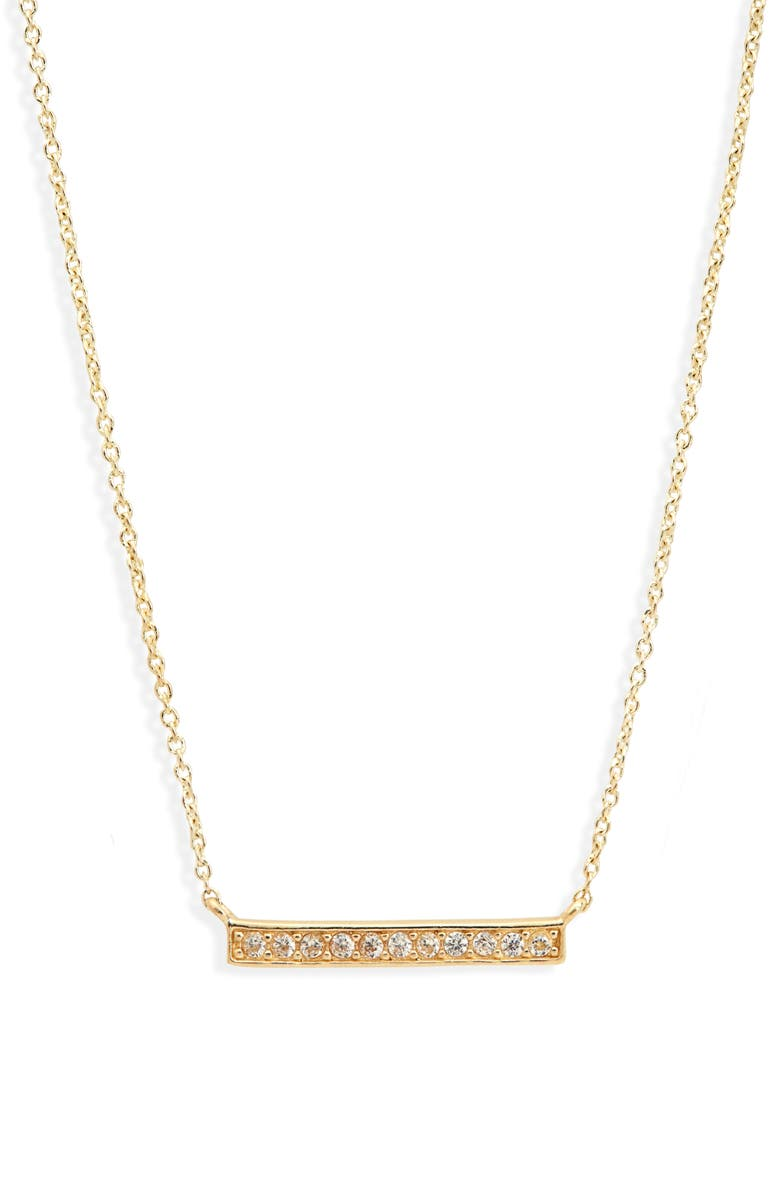 KENDRA SCOTT Kenda Scott Addison Bar Pendant Necklace, Main, color, GOLD METAL