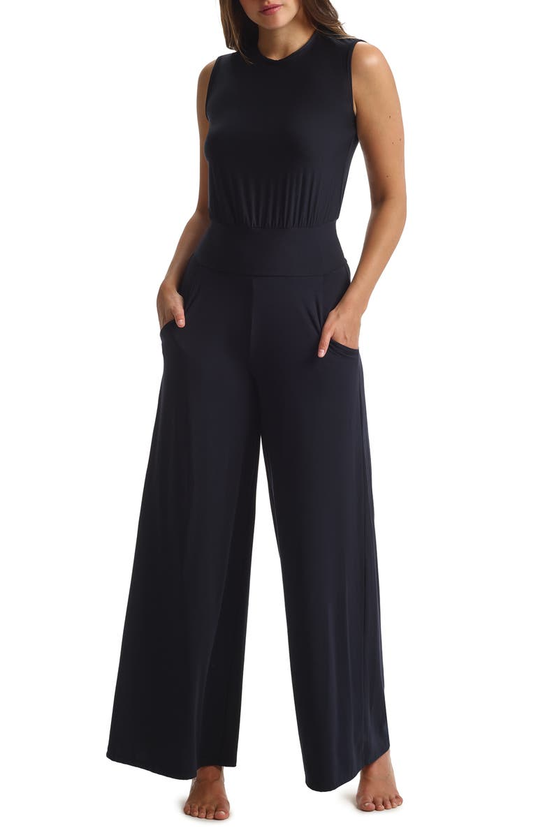 COMMANDO Butter Wide Leg Jumpsuit, Main, color, 001